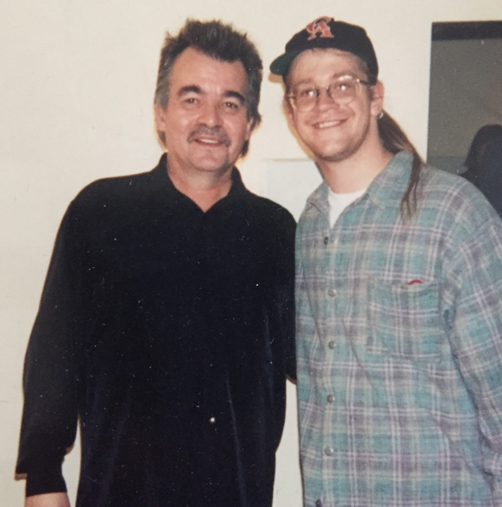1994 throwback: John Prine with Jim at the Grand Theater, Wausau, WI.
